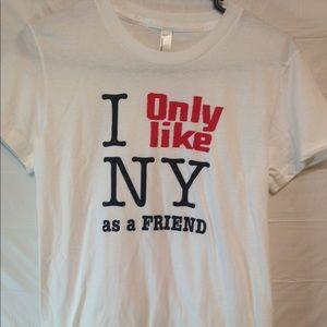 American apparel NY tshirt white size M